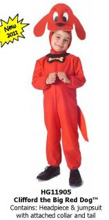 Clifford The Big Red Dog Costume Halloween Dress Up Toddlers Jumpsuit