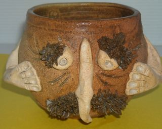 Clay Pottery Art Face Coffee Mug Cup
