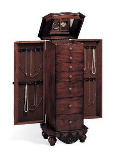 Jewelry Armoire in Antique Cherry by Coaster Furniture