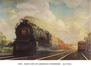 Pennsylvania Railroad Calendar Prints 32 Color PRR