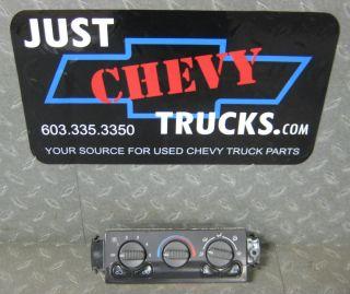 01 02 Chevy Silverado GMC Sierra Tahoe Suburban Heater Climate Control