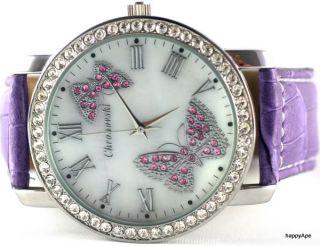 Chronovski Merry Butterfly Bling Mother of Pearl Ladies Designer