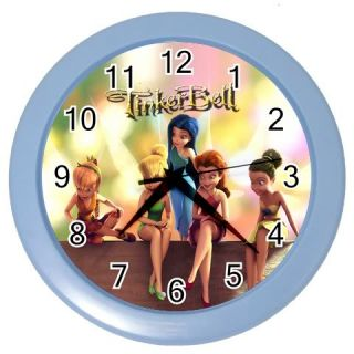 New Hot Tinkerbell and Friends Wall Clock Blue RARE