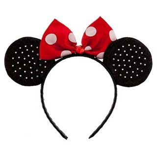 Disney Deluxe Womens Girls Minnie Mouse Headband Ears Dress Up Costume