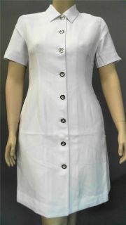 Clinique Skin Care Uniform Lab Coat Blazer Misses Sz 12 White Solid