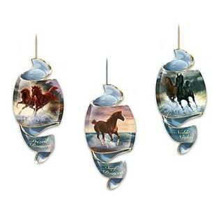Bradford Editions Free as The Wind Horse Ornament Set