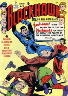 Blackhawk Comics 99 Issues on DVD Quality Golden Age