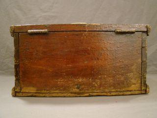 PRIMITIVE Old DUCK HUNTING DoveTail WOOD Ammo BOX Cobb Island GUN Club