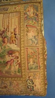 Vintage Scenic Micro Petit Point Purse Larger Size with Figures