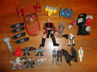 Lot of Vintage Star Wars Toys Action Figures Vehicles