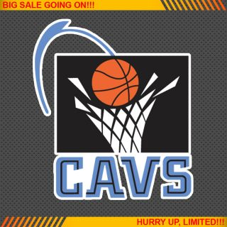 Cleveland Cavaliers Old NBA Basketball Logos Car Bumper Window Wall