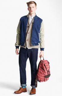 Topman Baseball Jacket, Shawl Collar Cardigan, Shirt & Slim Fit Jeans