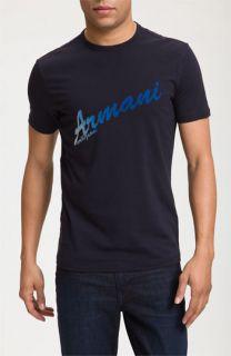 Armani Collezioni Logo Graphic Print T Shirt