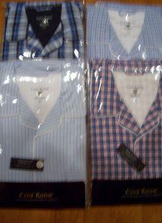 Mens Club Room Cotton Pajamas Set Pants Long Sleeve M L XL Ret $49 50