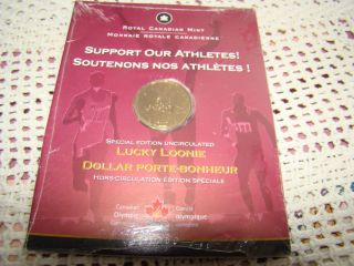 Lucky Loonie Coin Royal Canadian Mint & Canadian Olympic Committee