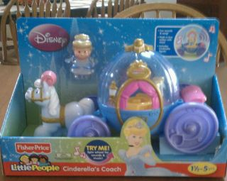 Price Little People Disney Cinderellas Carriage Coach Princess Set Toy