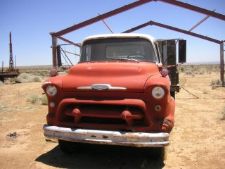 1956 COE Chevy Flat Bed Dump Truck