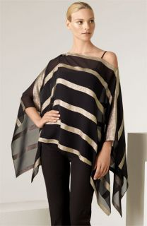 Ralph Lauren Black Label Lamé Stripe Poncho