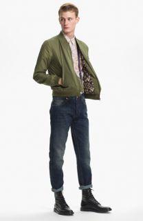 Topman Bomber Jacket, Shirt & Slim Fit Jeans