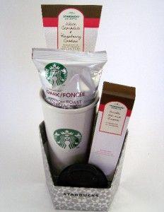 Starbucks Tumbler Gift Set w French Roast Coffee Biscotti Cookies Mug