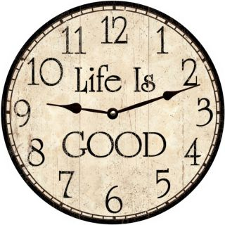 Life Is Good Clock Oversized Large Wall Clock