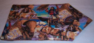 42 Coffee Table Bar Dresser Runner Indian Native American Buffalo
