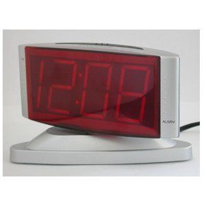New Sharp Digital Alarm Clock Swivel Base Snooze Large LED Display
