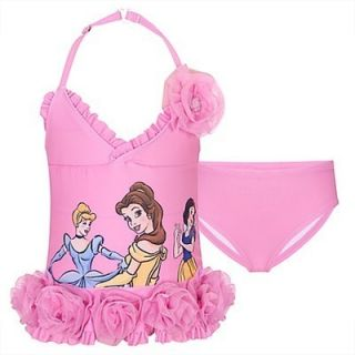 Disney Princess Deluxe Swimsuit Tutu Girls Size 10 L Cinderella Belle