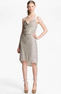 Tracy Reese Beaded Silk Racerback Slip Dress