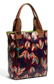 Fossil Key Per Printed Coated Canvas Tote