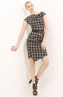 Michael Kors Belted Plaid Dress