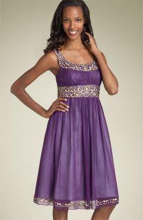 Adrianna Papell Bead Chiffon Party Dress