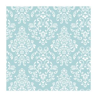 Peel & Stick Just Kids Delicate Document Damask Wallpaper Blue by York