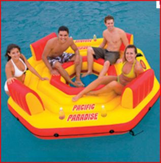 New Inflatable Beach River Floating Swimming Pool Party Island Raft