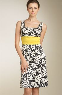 Donna Ricco Contrast Waist Dress (Plus)