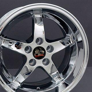 machined 17 rim fits mustang cobra wheel chrome 17x10 5