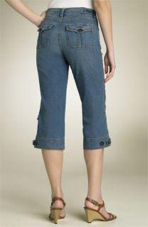 Christopher Blue Havana Cargo Crop Stretch Jeans
