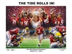 Alabama Football 2011 BCS National Championship Tide Rolls in Print