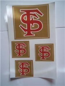 Logo Sheet Four Decals Stickers Lockers Door College Football