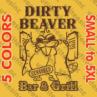 Bar and Grill T Shirt Slapstick Beavers Funny College Party Tee