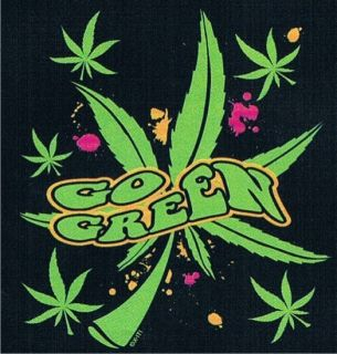 Go Green Neon Adult Humor College Marijuana Party Cool Weed Funny T