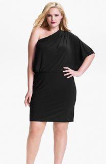 Jessica Simpson One Shoulder Matte Jersey Dress (Plus)