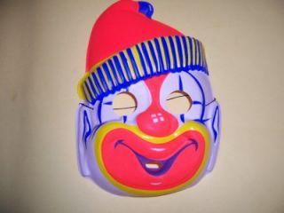 Vintage Collegeville Clown Halloween Costume Mask with Box Medium