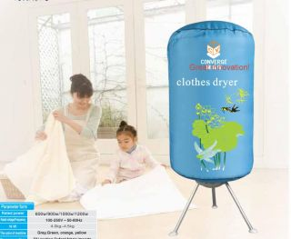 Functional Sterilized Portable Indoor Clothes Dryer Pink Cover