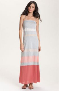 Haute Hippie Colorblock Stripe Maxi Dress