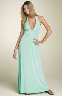 Julie Brown Halter Maxi Dress