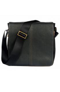 Boconi Leather & Canvas Messenger Bag