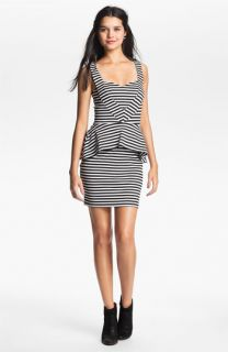 Liberty Love Stripe Peplum Dress (Juniors)