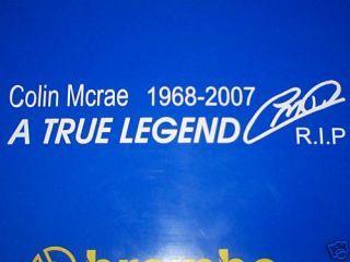 Subaru Impreza Colin McRae Tribute Sticker in White