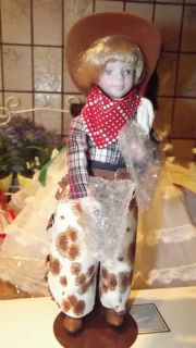 Avon Fine Collectible Childhood Dreams Porcelain Doll Cowboy Howdy